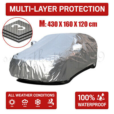 Medium SZ Double Thicker Fireproof Rain Resistant Aluminum UV Protect Car Cover