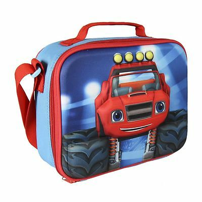 Blaze and The Monster Machine Children Kids 3D Effect Insulated Blue Lunch Bag