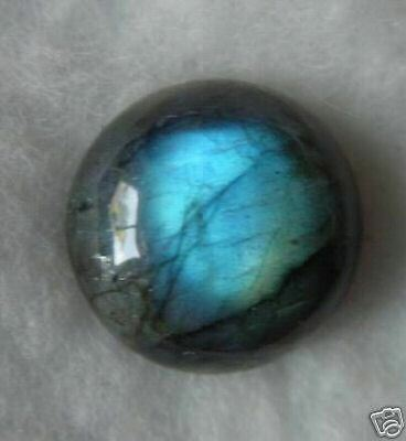 UNUSUAL 10mm ROUND CABOCHON-CUT NATURAL AFRICAN LABRADORITE GEMSTONE