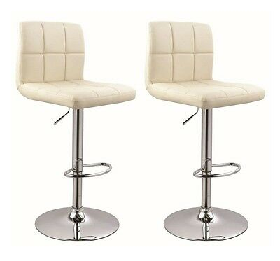 !2er Set! Barhocker in CREME / CREAM , Barstuhl Tabouret de Bar Stool +293+