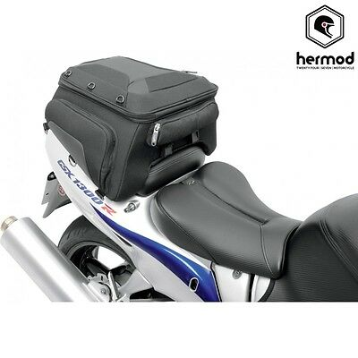 Saddlemen TS1620S Motorcycle Luggage Rear Tunnel Tail Bag Pack - Black