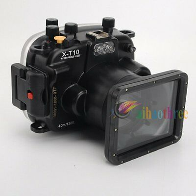 Meikon 40m 130ft Waterproof Diving Camera Case Cover For Fuji X-T10 XT10 16-50mm