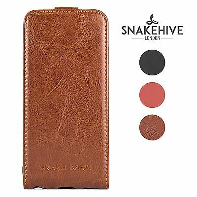 Snakehive® Samsung Galaxy S6 Premium Quality Handy Leather Flip Top Case Cover