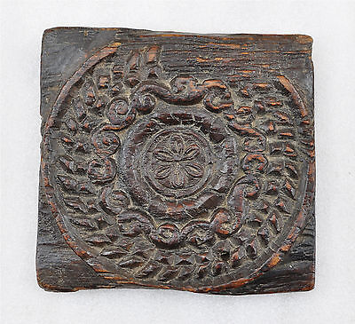 1850s Indian Antique Hand Carved Wooden Kitchenware Sweet Mould