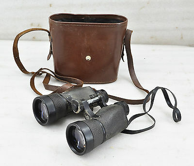 1970s Original Vintage Kern Aarau Focalpin 7x50 Collector's Binoculars With Case