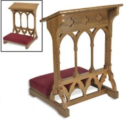 Gothic Style Church Prayer Kneeler~Solid Maple/medium Oak Finish~Prie Dieu~
