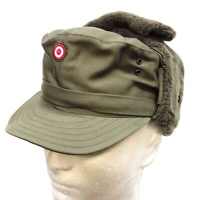 AUSTRIAN ARMY COLD WEATHER WINTER FIELD HAT CAP & BADGE 55cm & 57cm AVAILABLE