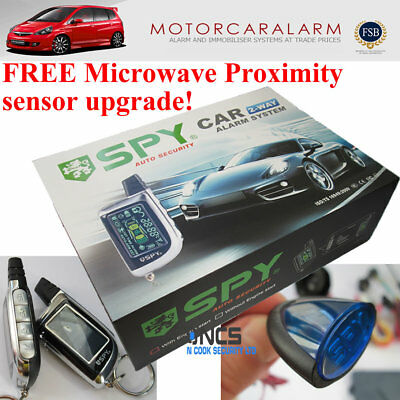 SPY 2 WAY CAR ALARM SYSTEM & IMMOBILISER WITH REMOTE START and CENTRAL LOCKING