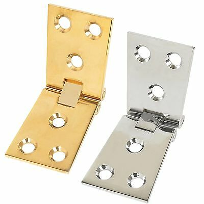2 x Polished BRASS/CHROME Counterflap Hinges Bar/Pub/Shop Trade Counter Flap Top
