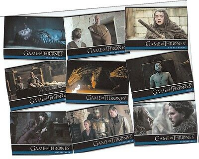 Game Of Thrones Season 6 (Six): 100 Card Basic/Base Set & Free P1 Promo Card