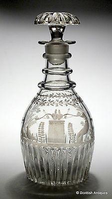 Engraved Victorian Decanter c1840