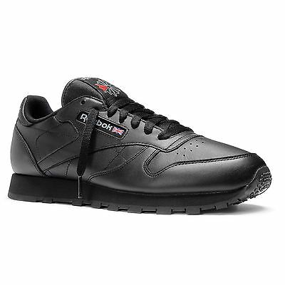 Reebok Classic 2267 Leather Shoes Back To School Sneakers Trainers British Black