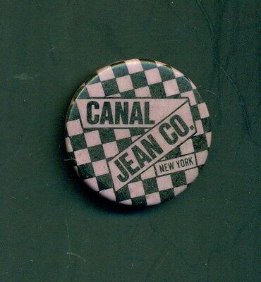 1980's Canal Jean Co. New York Signature Checkered Pattern Pinback Button