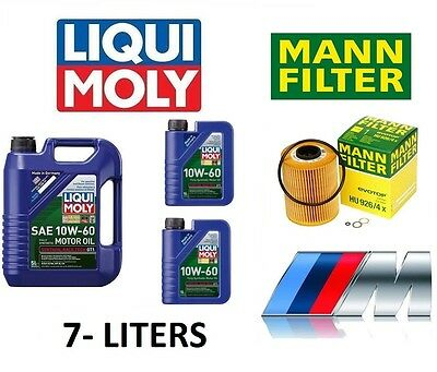 BMW M3 E36 & Z4 Z3 3.2L 10W60 Liqui Moly Engine Oil 7L & OEM Mann Oil Filter Kit
