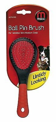 Mikki  Dog Grooming Ball Pin Brush for Sensitive Skin / Medium Coats, 6276-164