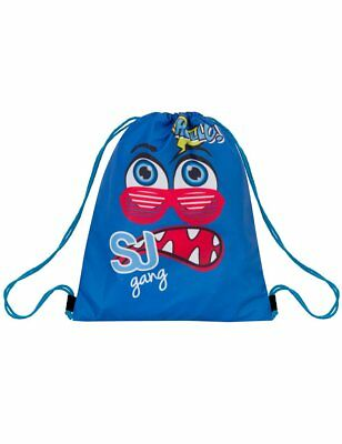 Soft Backpack SEVEN - SJ - FACE - Double face - Blu Verde - sacca