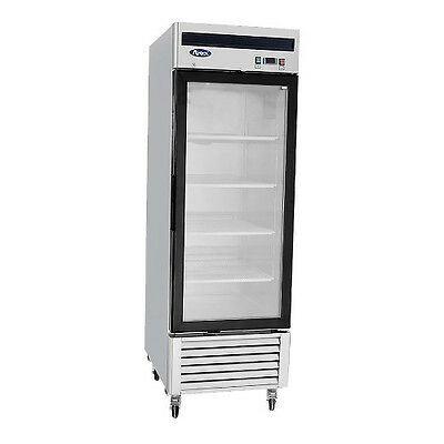 Atosa MCF8701 Glass Door 1 Section Self-Contained Reach-In Freezer