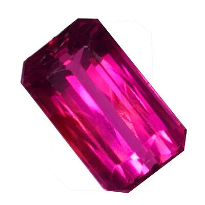 1.22 Ct EXTREMELY RAREST ! AWESOME 100% NATURAL PINK TOURMALINE EMERALD CUT GEM