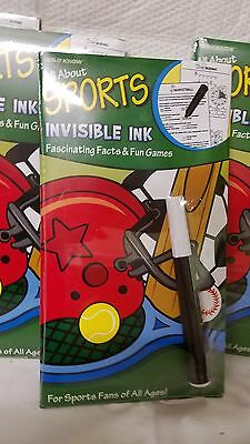 Lot Of 10 Yes & Know All About Sports Invisible Ink Facts & Fun Games ~ Green