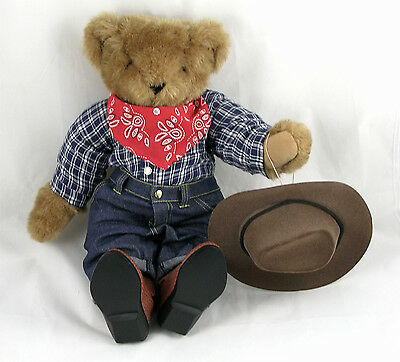 """Vermont Teddy Bear Company Cowboy 18"""" Fully Jointed Western"""