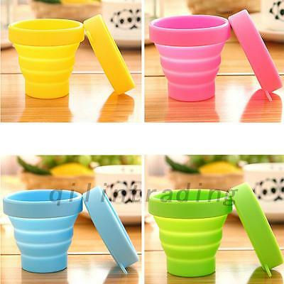 Silicone Folding Cup Telescopic Collapsible Sport Outdoor Travel Camping