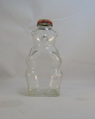 Vintage Snow Crest Beverages Flavor Syrup Bottle Premium Bear Bottle Bank