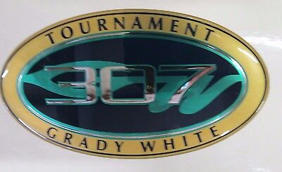 GRADY WHITE OEM 307 Tournament Oval Name Decal **small** #10