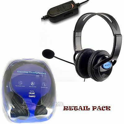 Boxed Deluxe Headset Headphone With Mic Volume Control For Xbox One S Controller