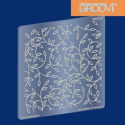 CLARITY STAMP GROOVI Parchment Embossing Plate SPRIG BACKGROUND GRO-FL-40008-03
