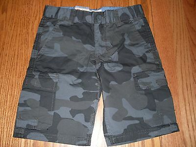Nwt Boys Levi's Cargo Shorts Gray Camo Relaxed Fit Adjustable Waist 4 5 6 7 8