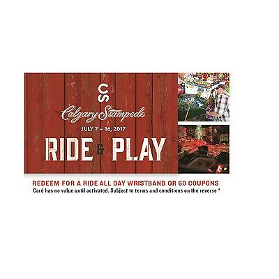 Calgary Stampede Gift Card - $37.85 Mail Delivery