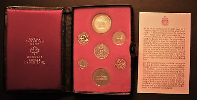 1973 Canada 7-Piece Proof Like Coin Set in Original Royal Canadian Mint case