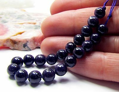 20 RARE NATURAL UNTREATED AFRICAN PURPLE SUGILITE ROUND BEADS 6mm TOP GRADE