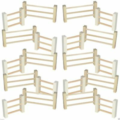 Wooden Fence Toy Animal Yard Corral Paddock Mini Timber Fencing 24 Piece Set