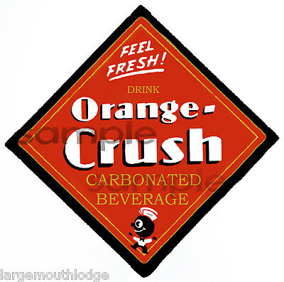 2 Inch Orange Crush Decal Sticker Gumball Machine