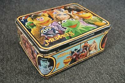 Jim Henson's The Muppets Kermit Frog Vintage Lunch Box With Thermos