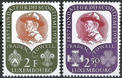 Luxembourg Lord Baden-Powel & Scouts 1957 Set of 2 MNH Scott's 324 & 325