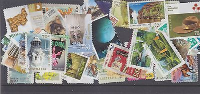 AUSTRALIA-50 X RECENT 70c STAMPS-ALL DIFFERENT-FINE USED STAMPS-$5 freepost