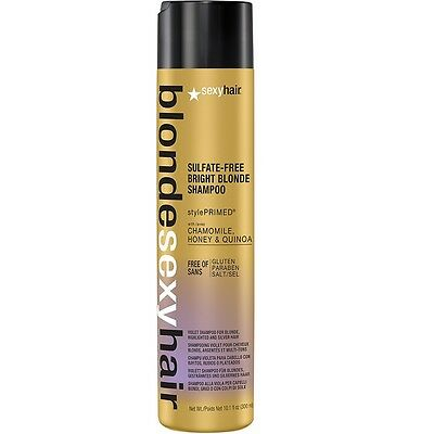 Sexyhair Sulfate-Free Lumineuse Blond Shampooing 300ml Couleur neutralise Argent
