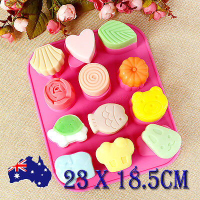 Silicone Mold Cake Fondant Chocolate Muffin Tray Baking Mould Animal Flower