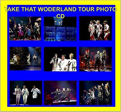 Take That Wonderland Tour  + 1800 Photo Cd Concert Set 1, 2 + 3 Live 2017