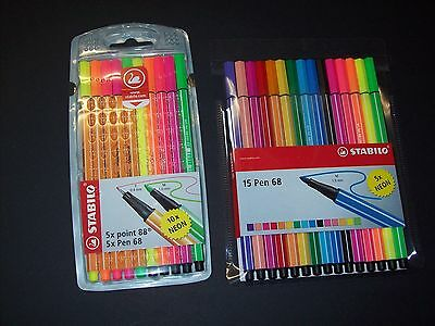 Stabilo Fineliner Point 88 oder Pen 68 Neon Farben
