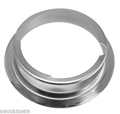 """O6 6"""" Metal Mounting Flange Adapter Ring for Speedotron ideal / Snoot / Dish NEW"""