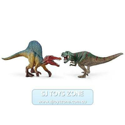 Schleich Dinosaurs Spinosaurus and T-Rex Collectible Figurine Educational Toy
