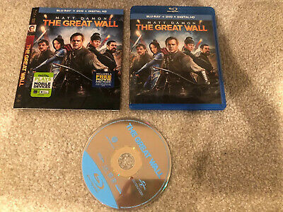 The Great Wall Bluray 1 Disc Set ( No Digital HD) SHIP NOW