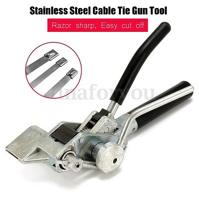 SSTTD2 Stainless Steel Black Cutting Wire Cable Ties Heavy Duty Tensioner Gun