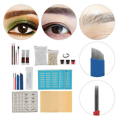 Microblading Permanent Maquillage Sourcil Tattoo Stylo Pigment Aiguilles Kit