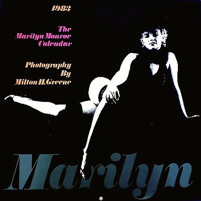 Marilyn Monroe Calendar 1983 Milton Greene Black Sitting Publicity With Sleeve