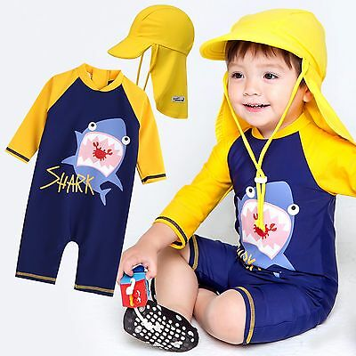 "Vaenait Baby Infant Boys UPF+50 Swimwear Bathing Suit ""Baby yellow shark"" 0-24M"