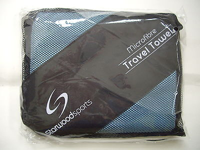 STARWOOD SPORTS MICROFIBRE TRAVEL TOWEL BLUE EXTRA LARGE 150cm x 80cm